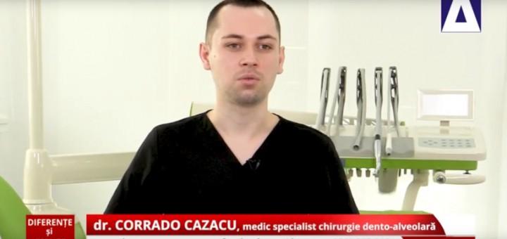 DSE - Daca si cat de tare doare implantul dentar - Dr. Corrado Cazacu - Realizator Cecilia Caragea