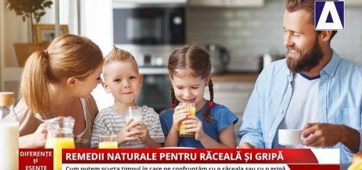 Diferente si Esente - Remedii naturale pentru raceala si gripa - Apidava - Realizator Cecilia Caragea